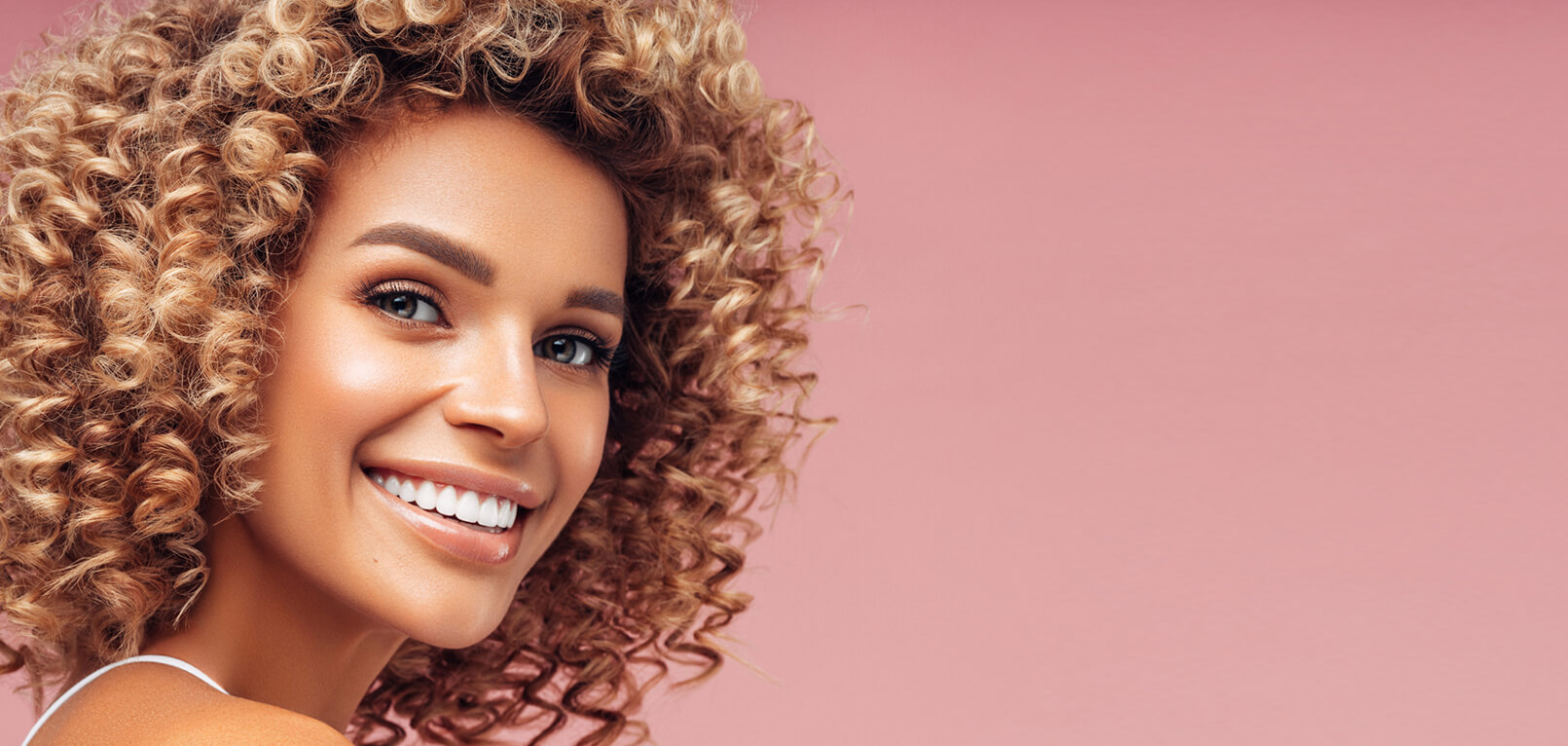 model woman smiling